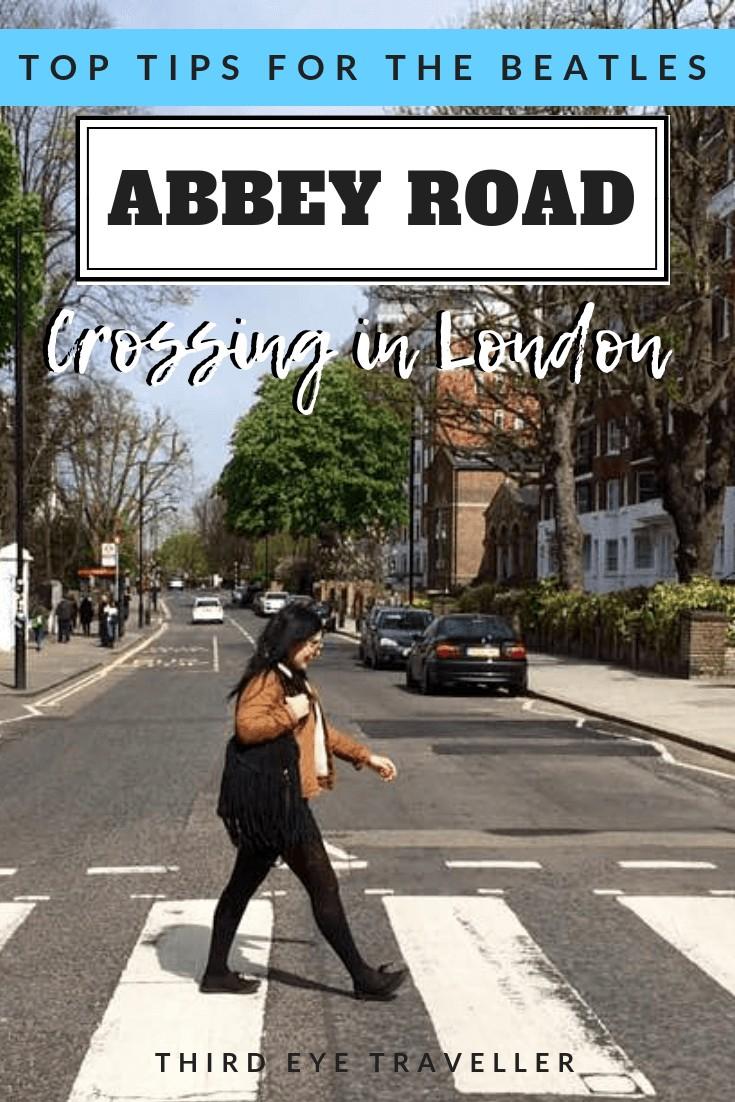beatles abbey road crossing london