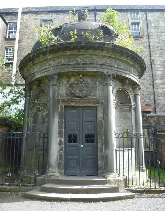 black mausoleum Greyfriars Kirkyard