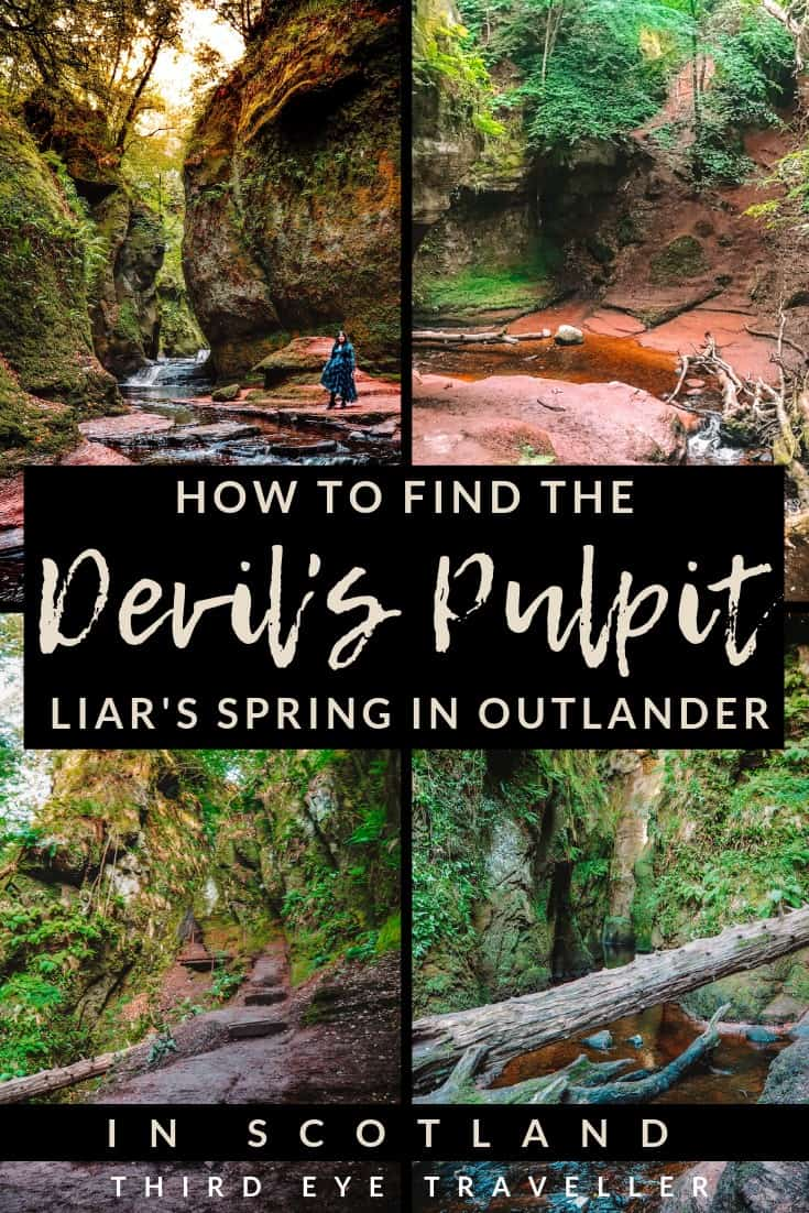 how to find the devil's pulpit liar's spring outlander