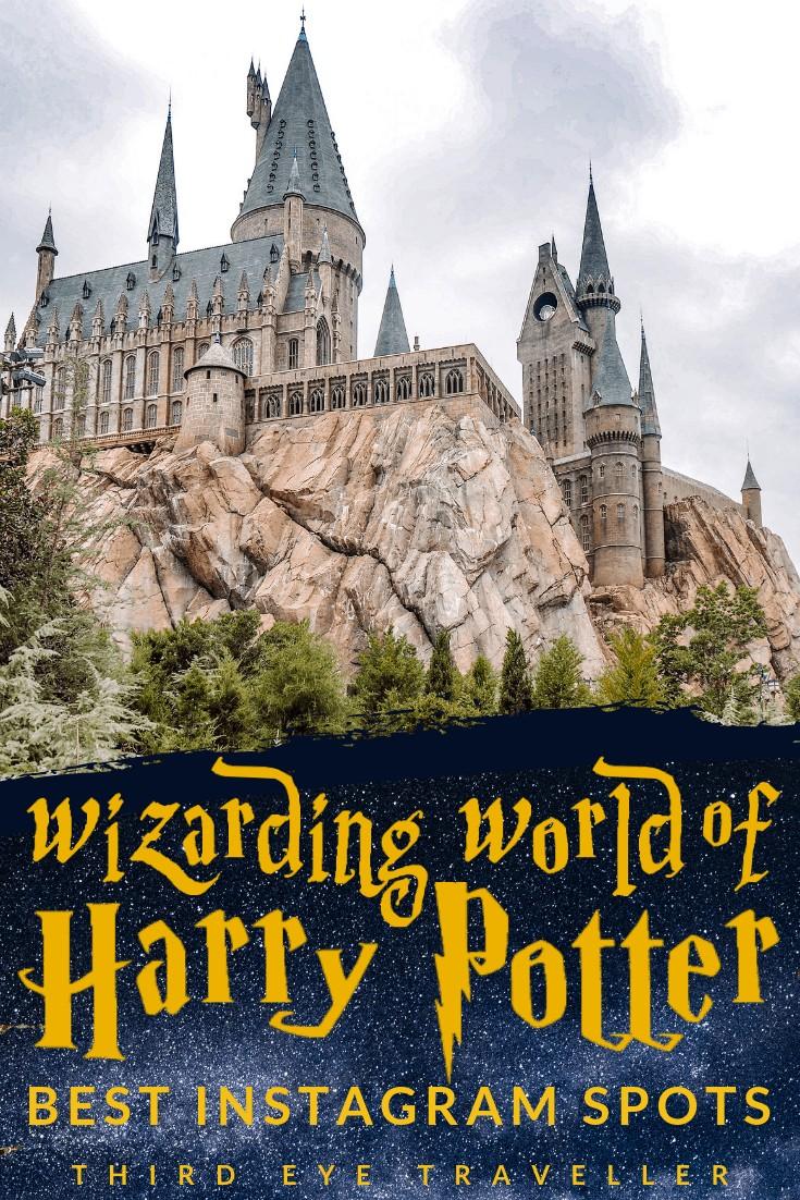 wizarding world of harry potter Instagram spots