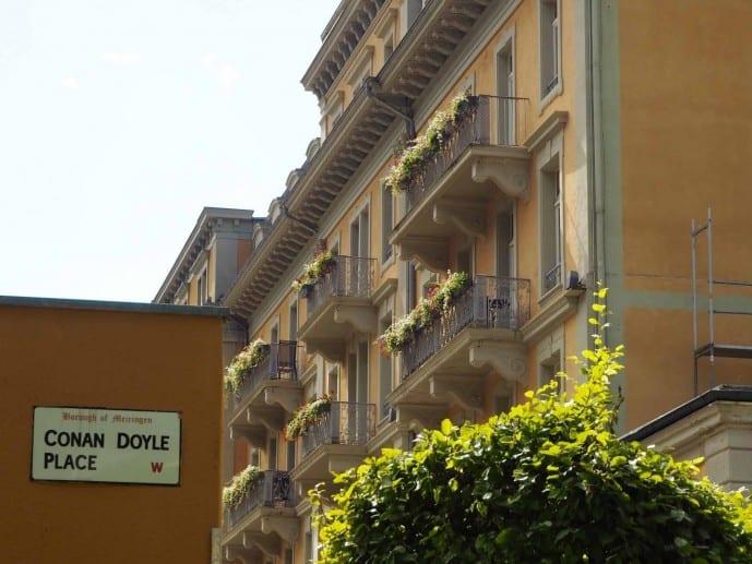 Conan Doyle Place in Meiringen