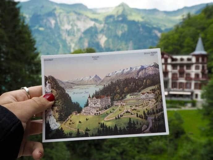 grand hotel giessbach postcard vintage
