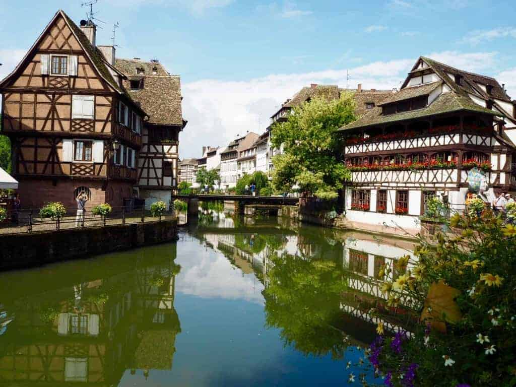 Petite France strasbourg houses reflection in the river