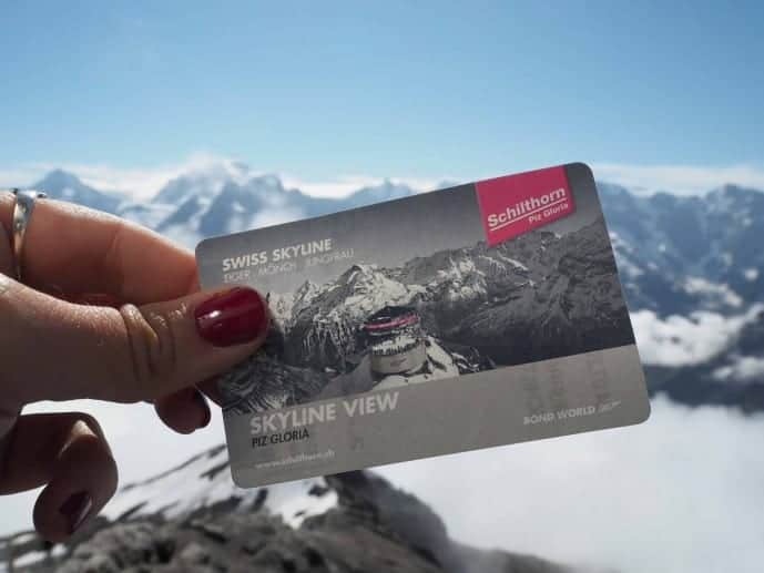 schilthorn piz gloria ticket switzerland