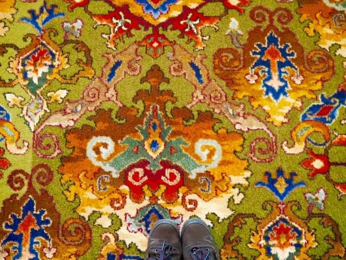 vintage carpet at grand hotel giessbach