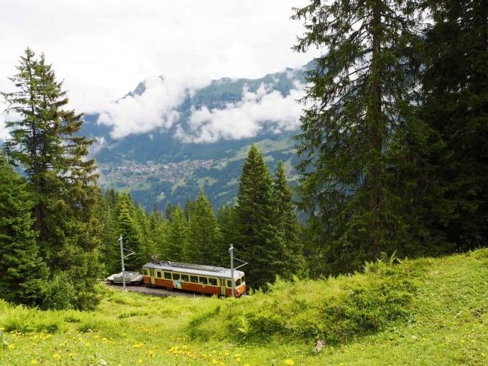 Grütschalp to Mürren train | Murren Travel guide
