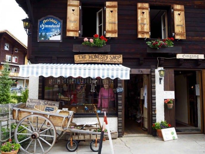 Honesty Shop in Gimmelwald Switzerland
