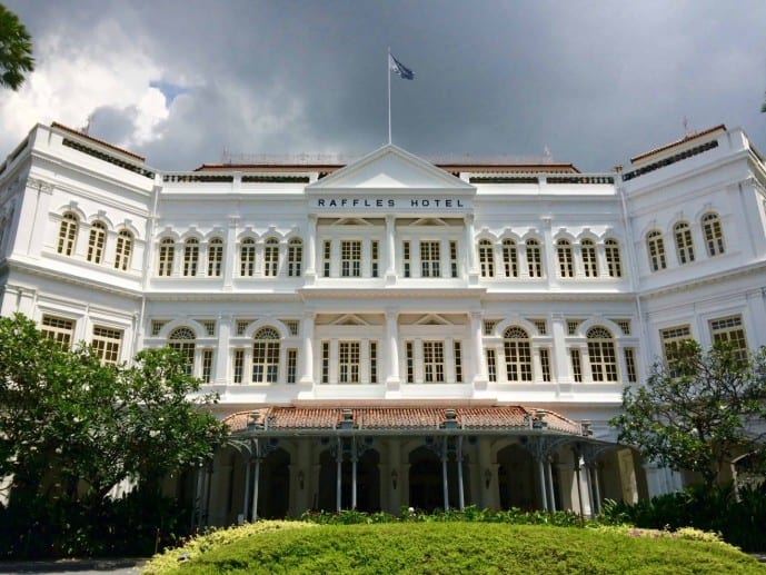 How much is a Singapore Sling at Raffles hotel?