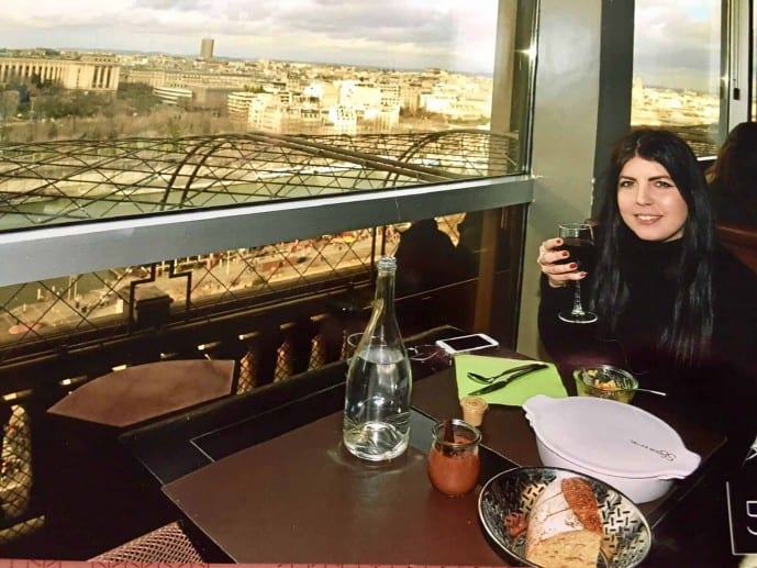eating alone at the eiffel tower