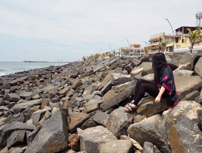 rock beach pondicherry | pondicherry travel guide