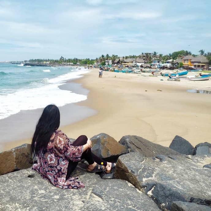 serenity beach pondicherry | solo travel problems