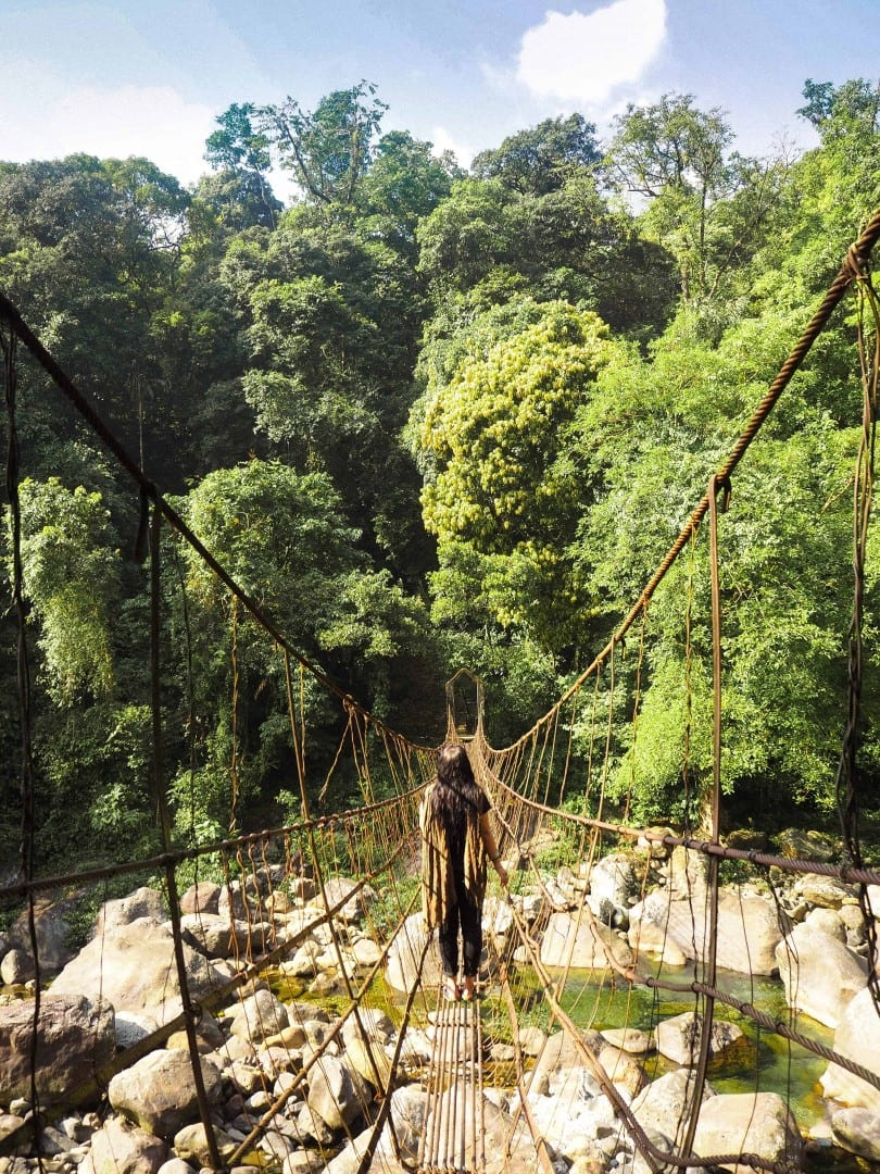 how to reach the double decker living root bridge cherrapunjee