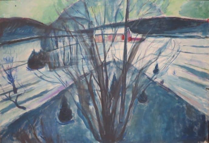 Winter Night Ekely by Edvard Munch