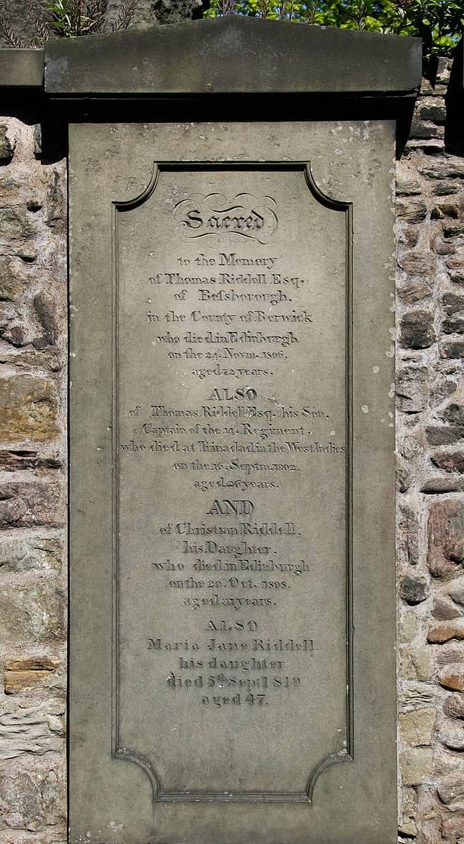 Tom Riddell Grave Greyfriars Kirkyard
