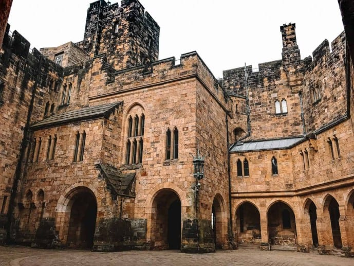 Alnwick Castle Courtyard Harry Potter location