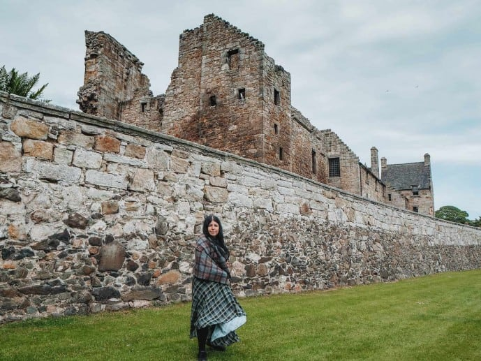 Aberdour Castle Outlander location walled gardens