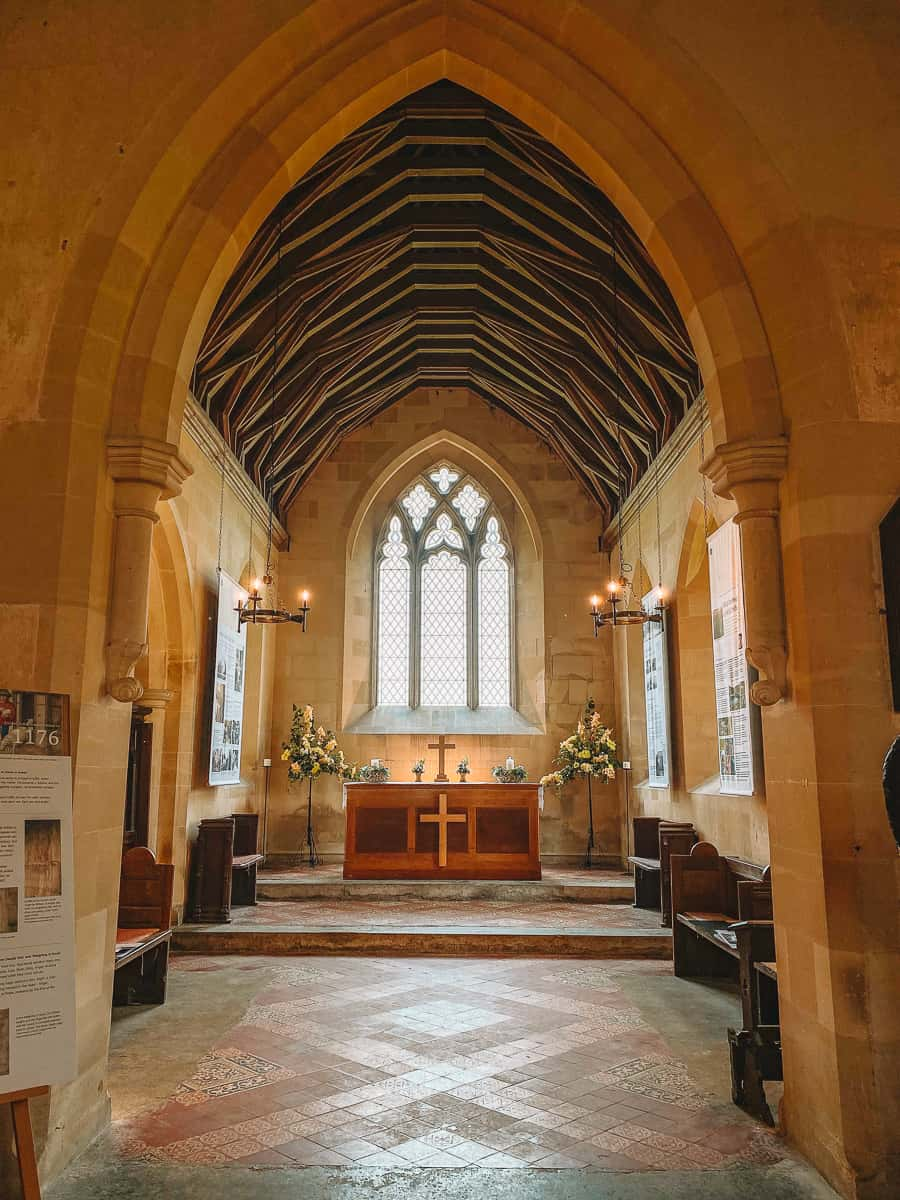 St Gile's Church Imber history exhibition