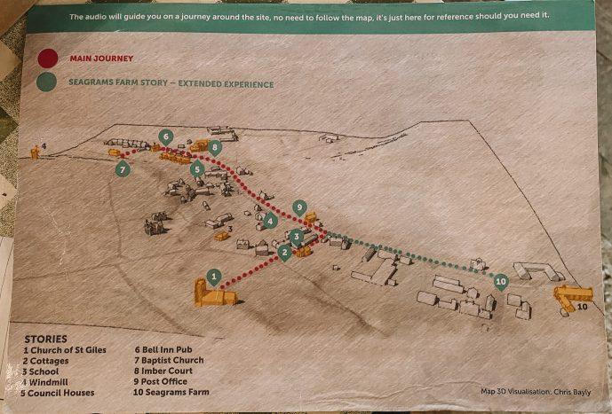 Imber Village Map