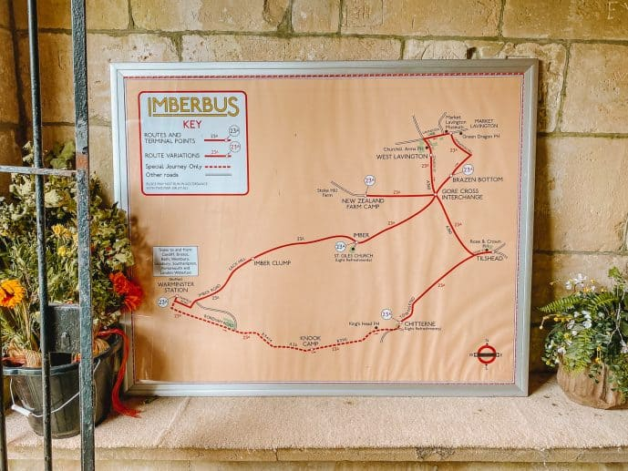 The Imber Bus route