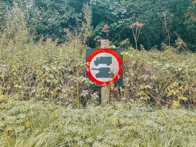 Imber Tank Sign