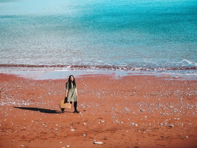 Oddicombe Beach red sand