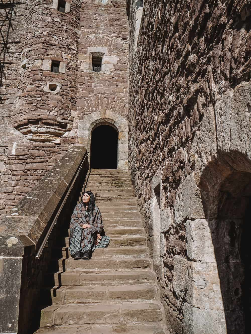 Castle Leoch Stairs Doune Castle