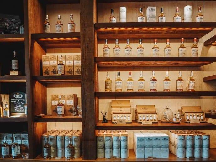 Deanston Distillery Whisky shop