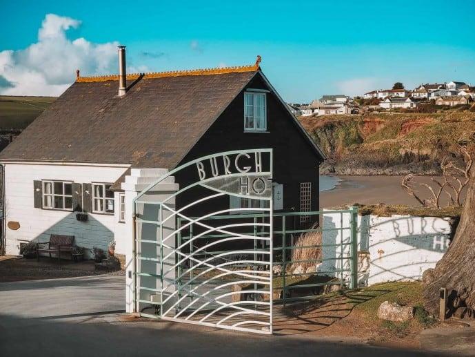 Burgh Island Hotel gates