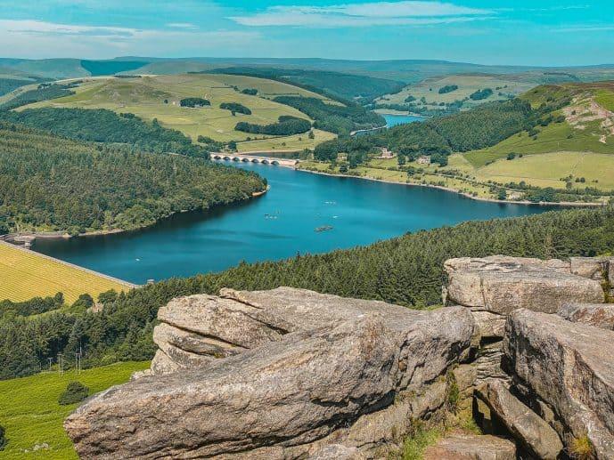 Ladybower Reservoir from bamford Edge