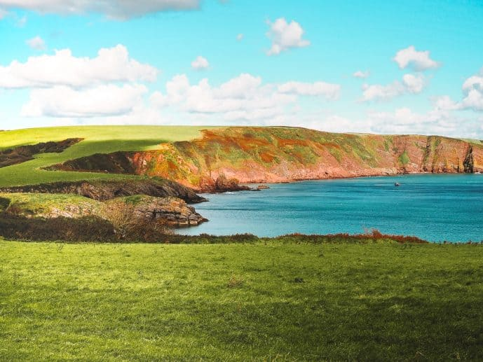 views on the Stackpole Quay to Barafundle Bay walk