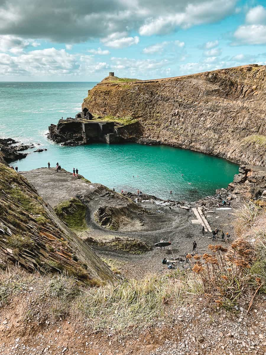 Cliff Upper View of the Blue Lagoon in Abereiddi