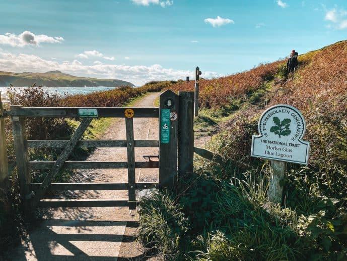 National Trust Path Blue Lagoon Pembrokeshire