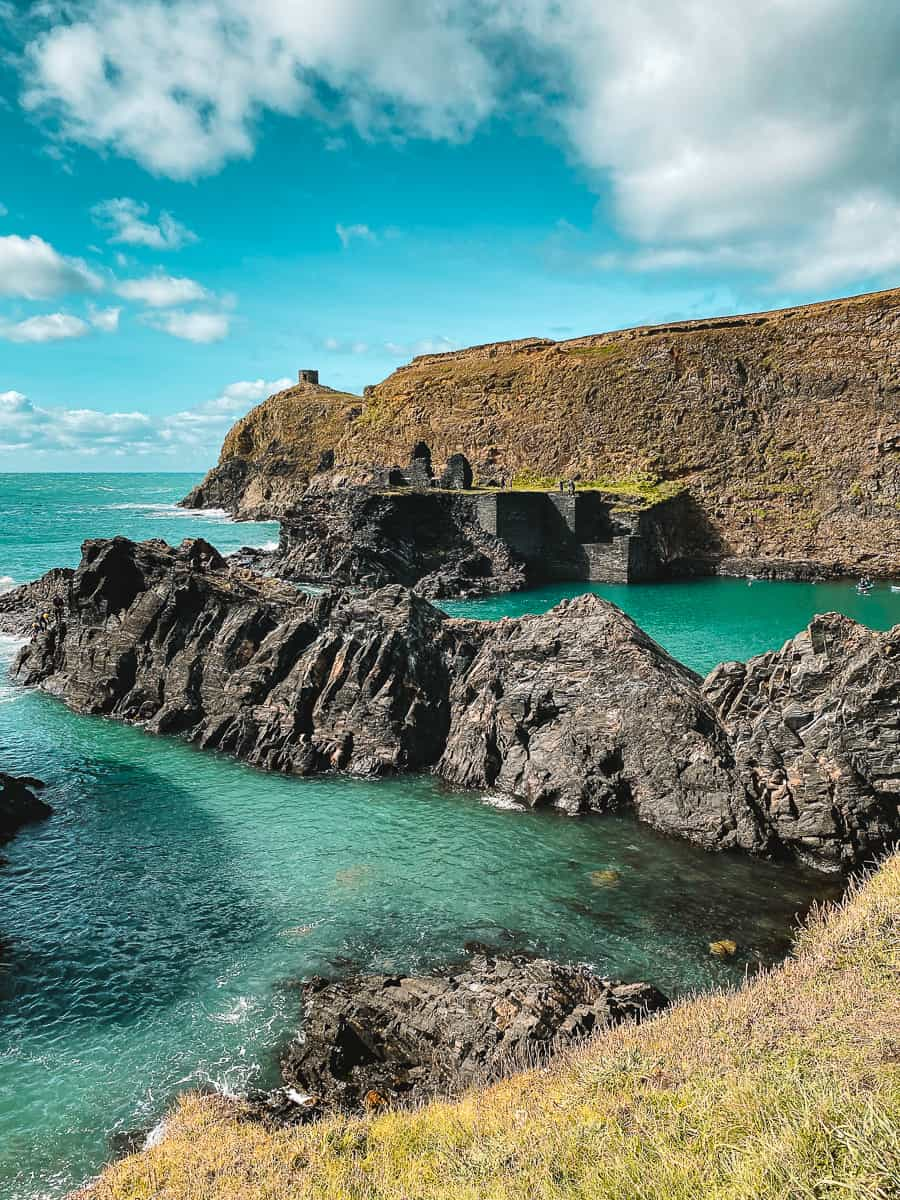 Abereiddi Slate Quarry at the Blue Lagoon in Wales