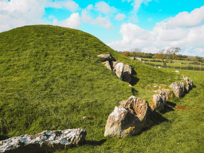 Bryn Celli Ddu burial chamber and stone circle Anglesey Island