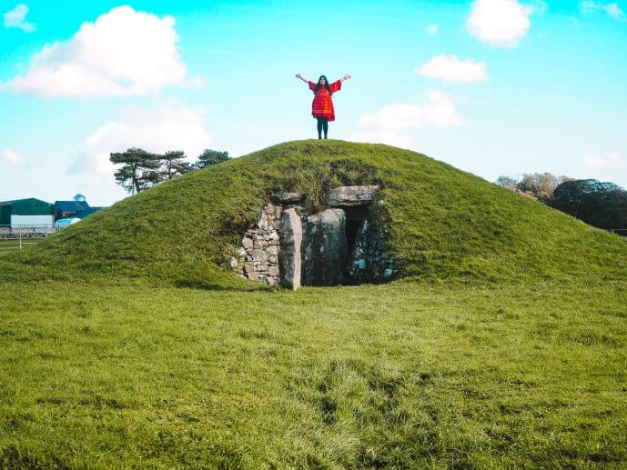 Standing on top of Bryn Celli dDu burial chamber