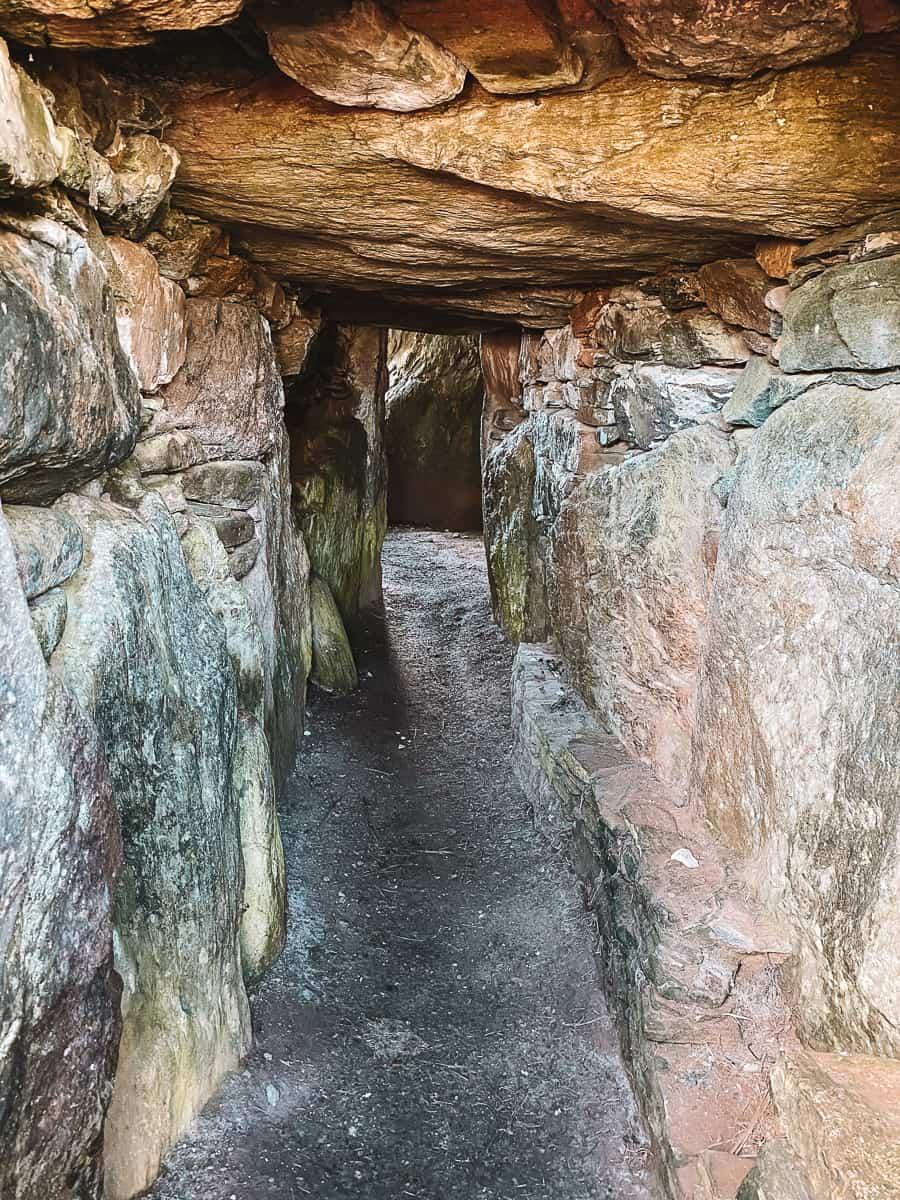 Inside Bryn Celli Ddu