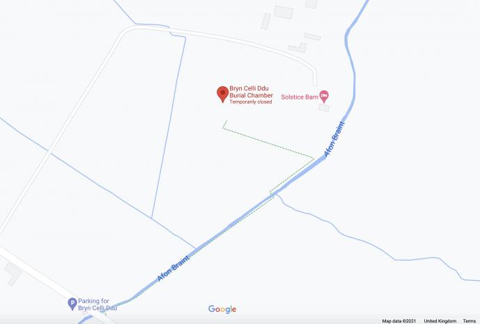 Bryn Celli Ddu Location