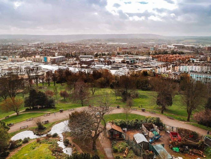 The view from Cabot Tower | Best viewpoint in Bristol
