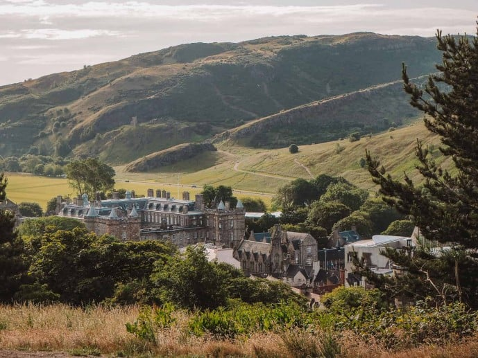 Holyrood Palace View from Calton Hill
