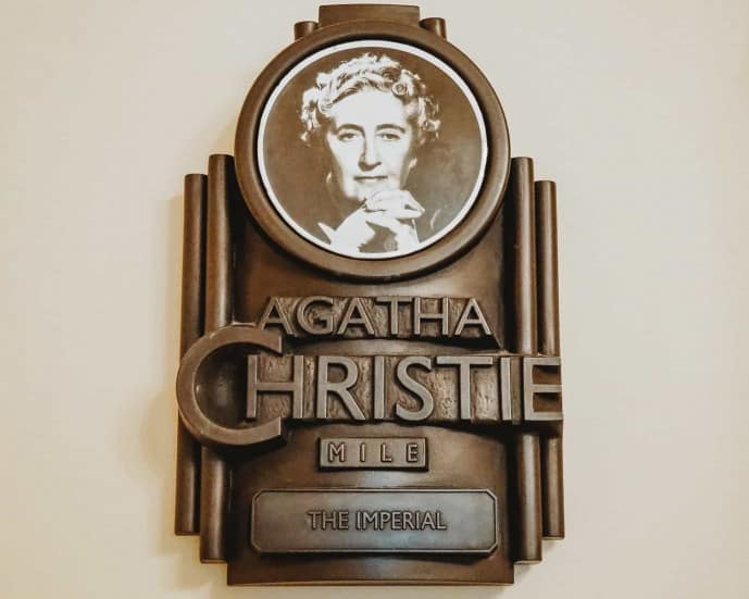 The Agatha Christie plaque at the Imperial Hotel