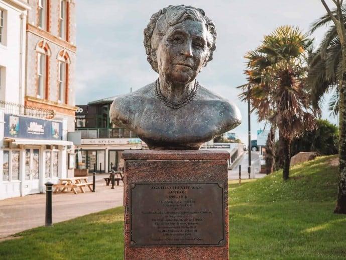 Agatha Christie Bust Torquay