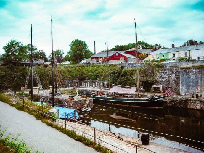 The Tall Ships of Charlestown Cornwall