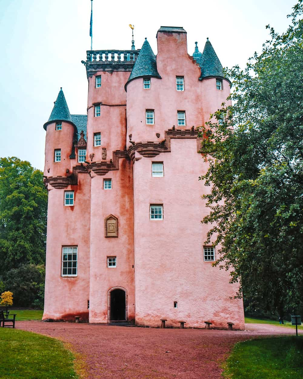 The pink castle in Scotland