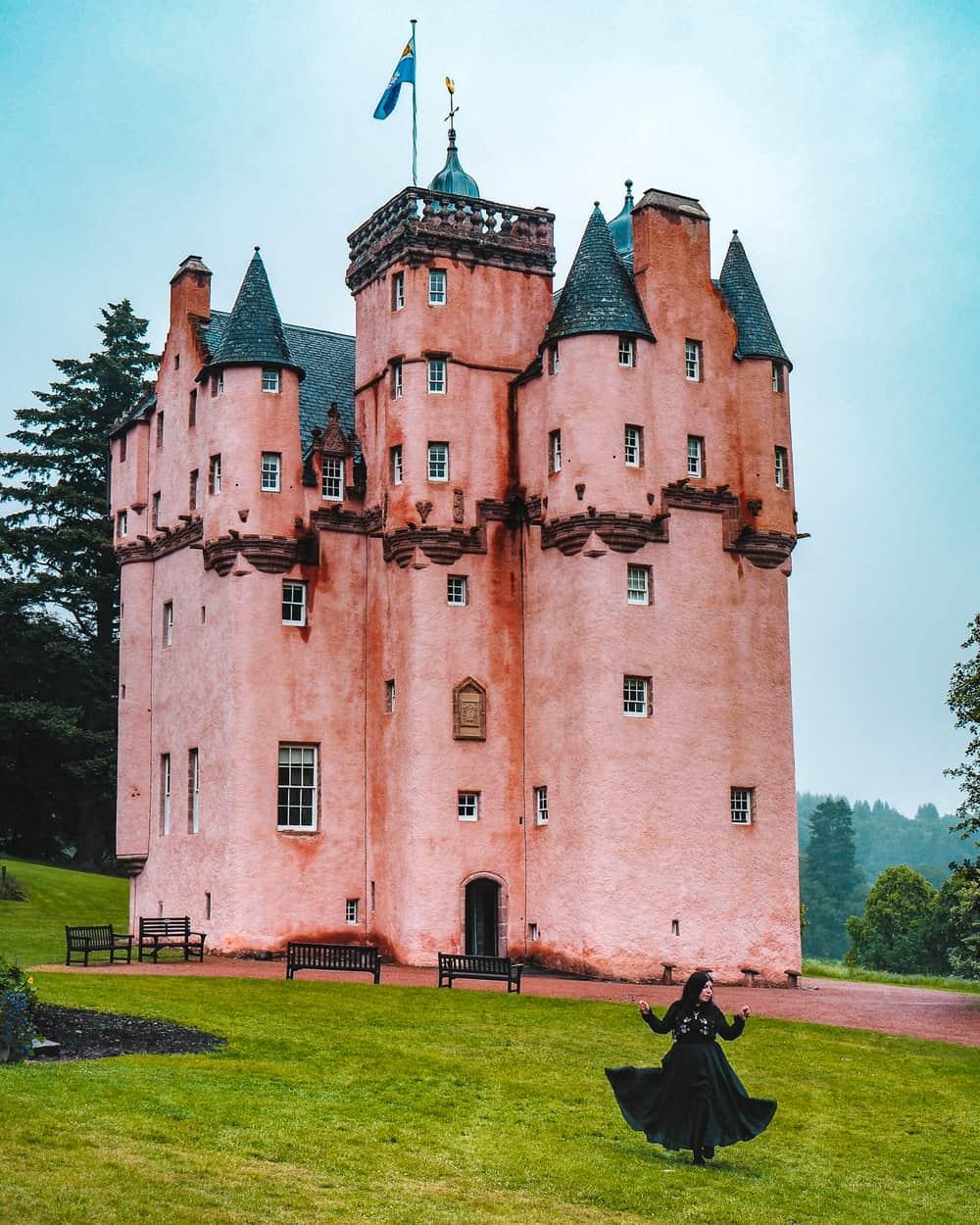 The Pink Castle in Scotland - Craigievar Castle