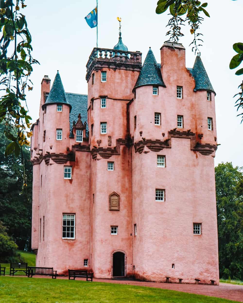 pink castle in Scotland!