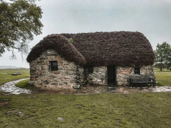 The Leanach Cottage at Culloden Moor