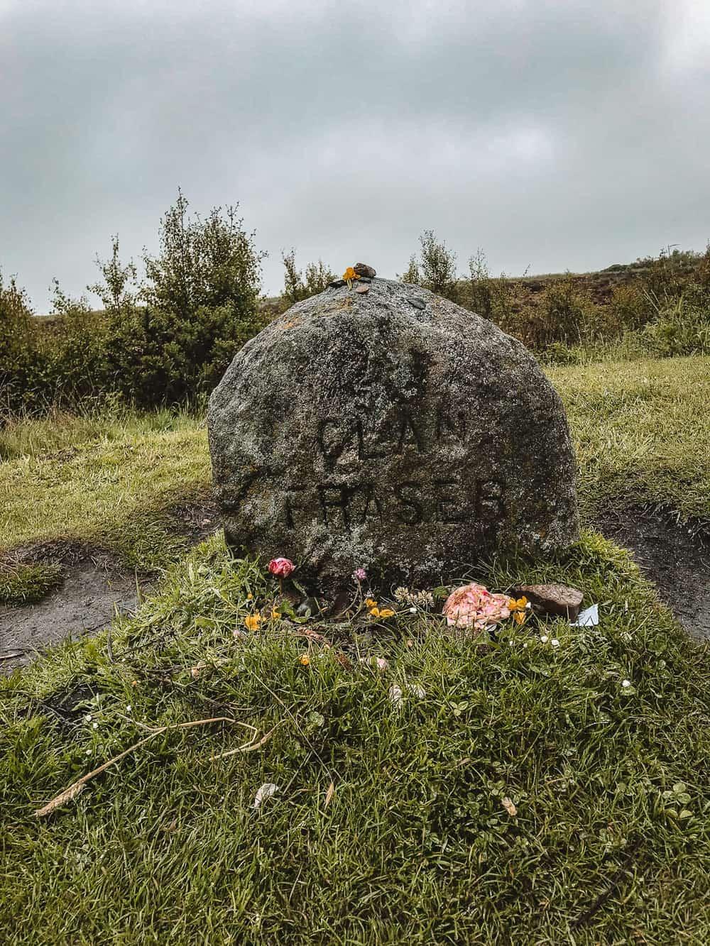 Culloden Outlander Clan Fraser Gravestone
