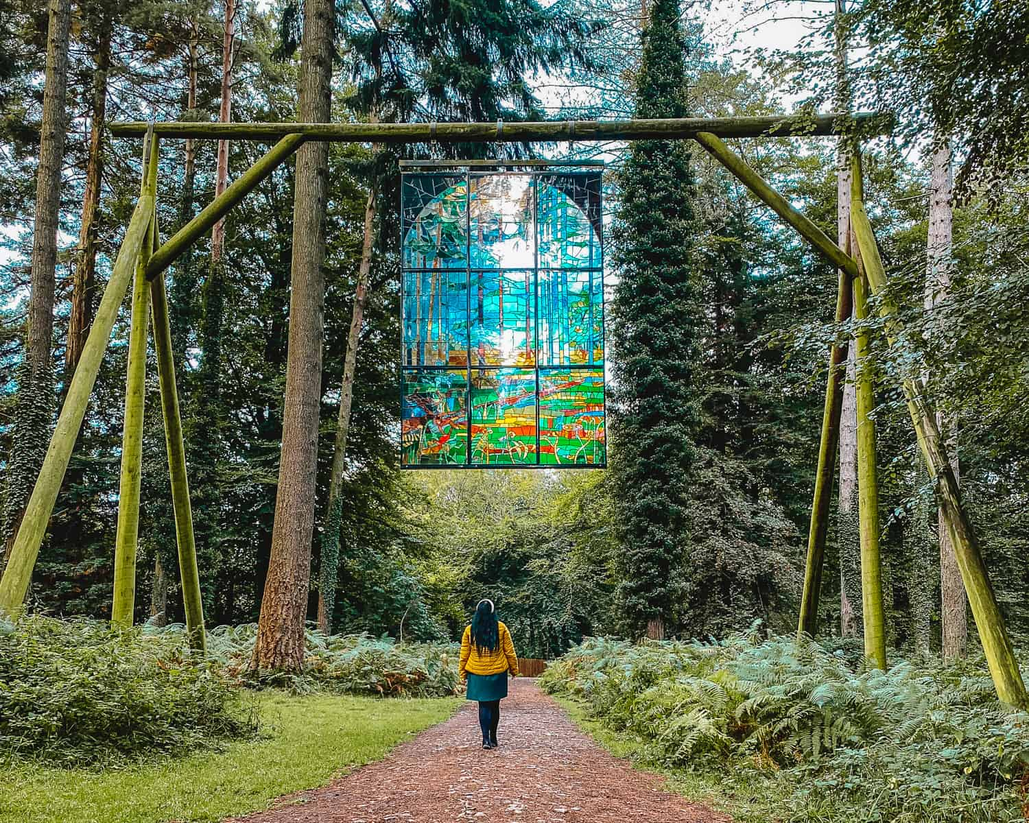 Forest of Dean Sculpture Trail Stained Glass Window
