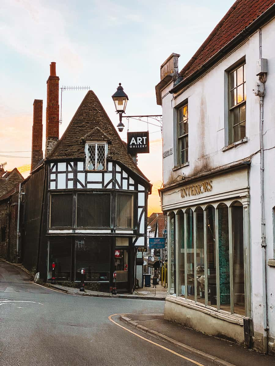 Circula timber frame building on cheap street frome