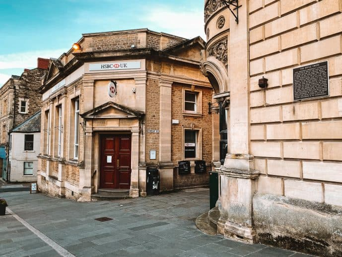 The entrance to Cheap Street Frome